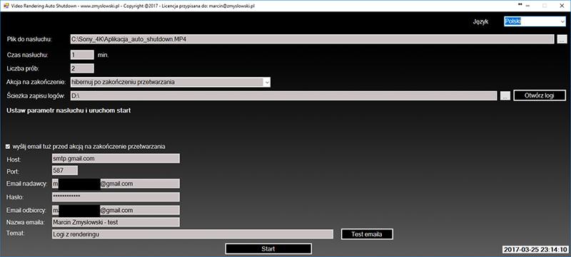 aplikacja do zamykania hibernowania usypiania komputera po zakończeniu renderowania się video